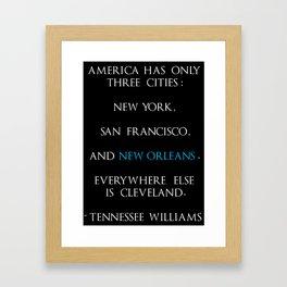 Tennessee Williams Framed Art Print
