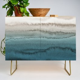 WITHIN THE TIDES - CRASHING WAVES TEAL Credenza