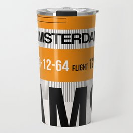 AMS Amsterdam Luggage Tag 2 Travel Mug