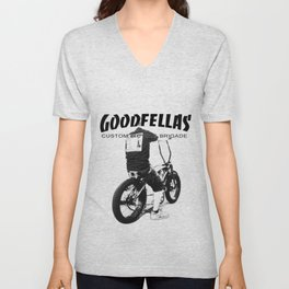 Goodfellas Custom Bicycle Brigade - XXX Logo Unisex V-Neck