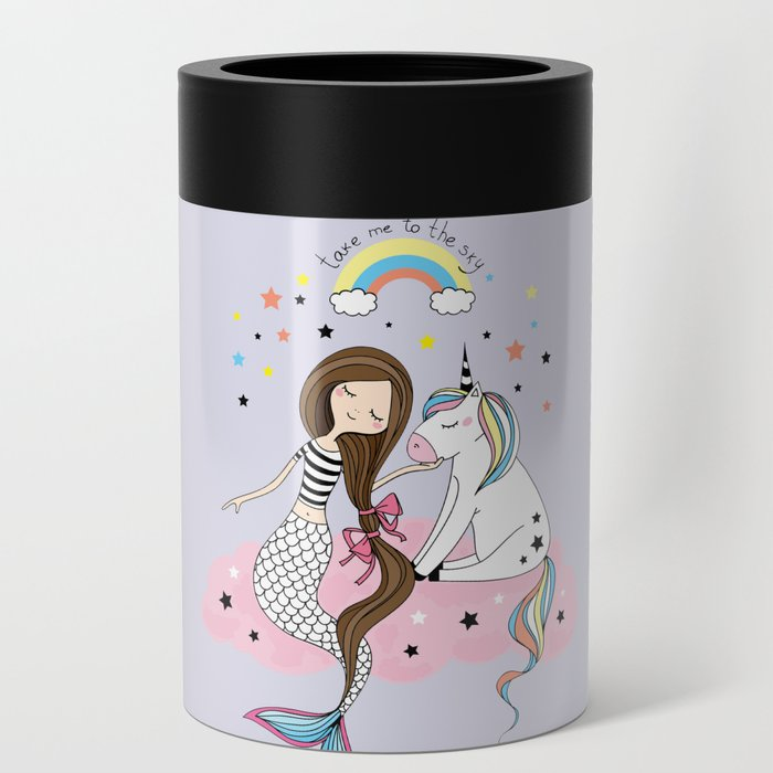 Mermaid & Unicorn Can Cooler