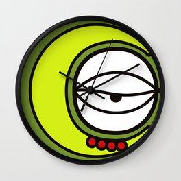 Moon Goddess with Coffee Leaf Eye-lash [Spa Ixchel] Wall Clock