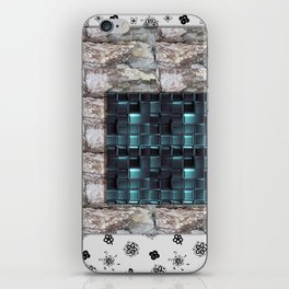 textures for the interior grey blue color iPhone Skin