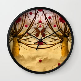 Once upon a time, and far away, Red Roses grew to the Willows... Wall Clock