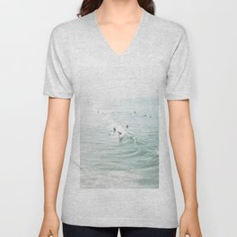 Surfer Waves Costal Ocean Unisex V-Neck