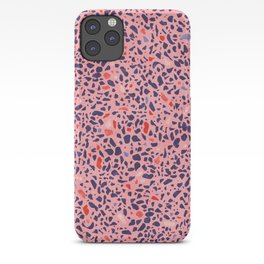 Terrazzo pink red blue iPhone Case