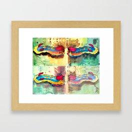 4 Rainbow Sea Sluggies Framed Art Print