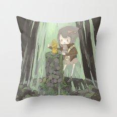 Lost Gauntlet Throw Pillow
