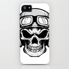 Biker Skull and cross bones iPhone Case