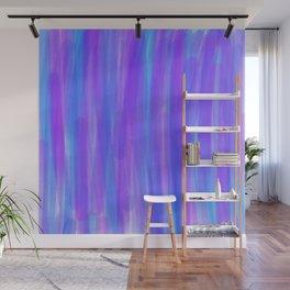Moonlight Blue Purple and Fuschia Watercolor Wall Mural