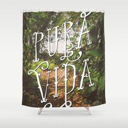 Pura Vida Costa Rica Jungle Life Caribbean Type Shower Curtain