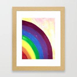 rainbow love (z) Framed Art Print