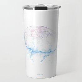 Aurelia aurita (color) Travel Mug
