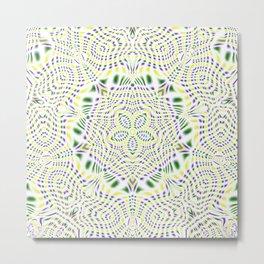 Yellow, Green, Purple Kaleidoscope Metal Print
