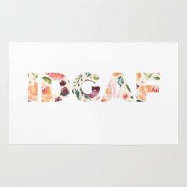 Flowery Language: I Don't Give A Fuck (IDGAF) Rug