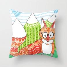 Fox Mountain Throw Pillow
