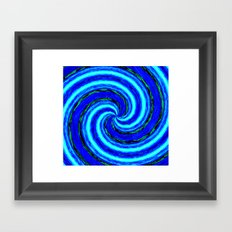 Abstract Blue Modern. Framed Art Print