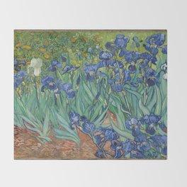 Vincent van Gogh - Irises Throw Blanket