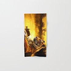 Tiger and Sunset Hand & Bath Towel