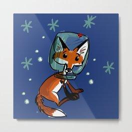 star fox pattern BLUE Metal Print