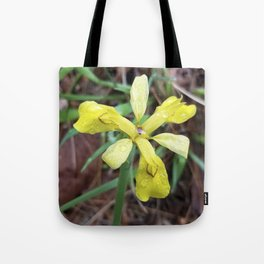 Iris Koreana - floral sunshine on a rainy day Tote Bag