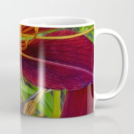 Red Tigerlily Close Up Coffee Mug