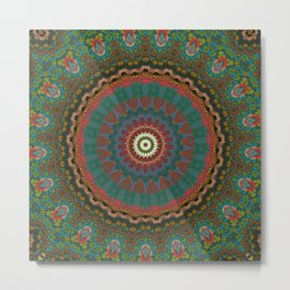Basal Color Mandala 12 Metal Print