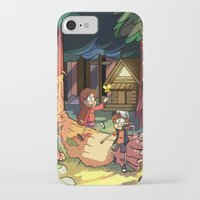 gravity falls iPhone & iPod Cases featuring Gravity Falls by Izzy