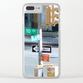 10th and West 23 St Clear iPhone Case