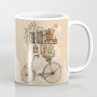 leaves Mugs featuring Pleasant Balance by florever