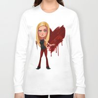 buffy the vampire slayer Long Sleeve T-shirts featuring Buffy the Heart Slayer by Isaiah K. Stephens