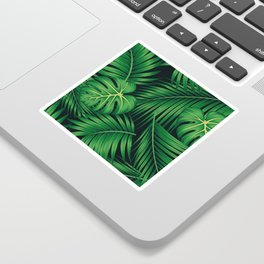 Tropical leaf illustration Sticker