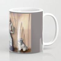 schnauzer Mugs featuring Schnauzer by Michelle Behar
