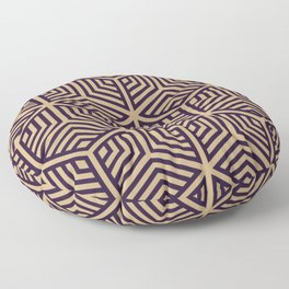 Black and brown geometric mozaico Floor Pillow
