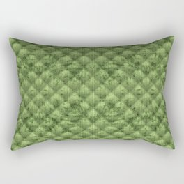 Quilted Bright Leaf Green Velvety Pattern Rectangular Pillow
