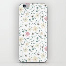 Floral Bee Print iPhone Skin