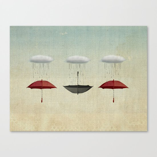 the umbrella filleth Canvas Print