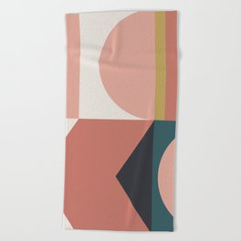 Maximalist Geometric 02 Beach Towel