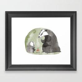 Papa Badger Framed Art Print