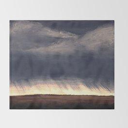 Storm Over Saskatchewan Fields Throw Blanket