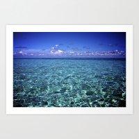 paradise waters Art Print