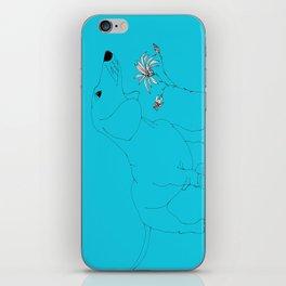 Blue Dachsund Love iPhone Skin