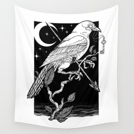 Night Crow Wall Tapestry