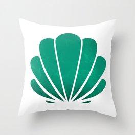 Mermaid's seashell Throw Pillow