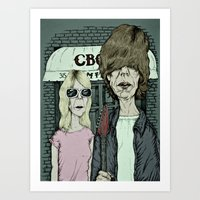 sonic youth Art Prints featuring American Indie - Sonic Youth by baldur