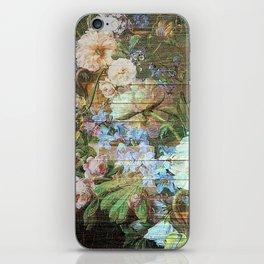 Blossom wood panel iPhone Skin