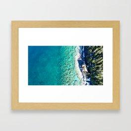 Blues from Above Framed Art Print