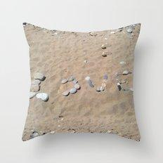LOVE at the beach Throw Pillow