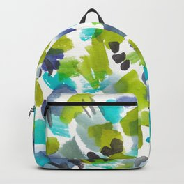 180803 August Abstract 8| Colorful Abstract | Watercolors Brush Patterns Backpack