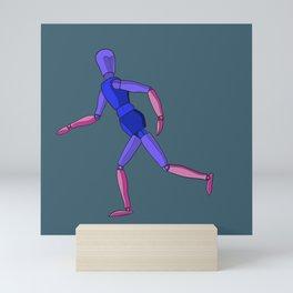Wooden Running Man Mini Art Print